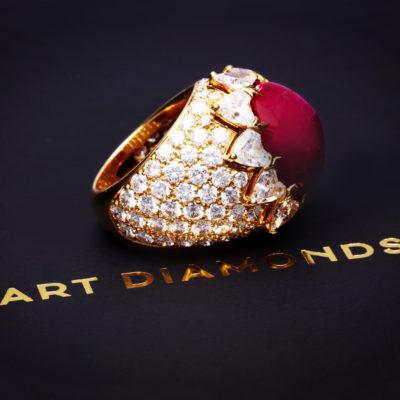 Diamentowy pierścionek z rubinem z kolekcji MART DIAMONDS