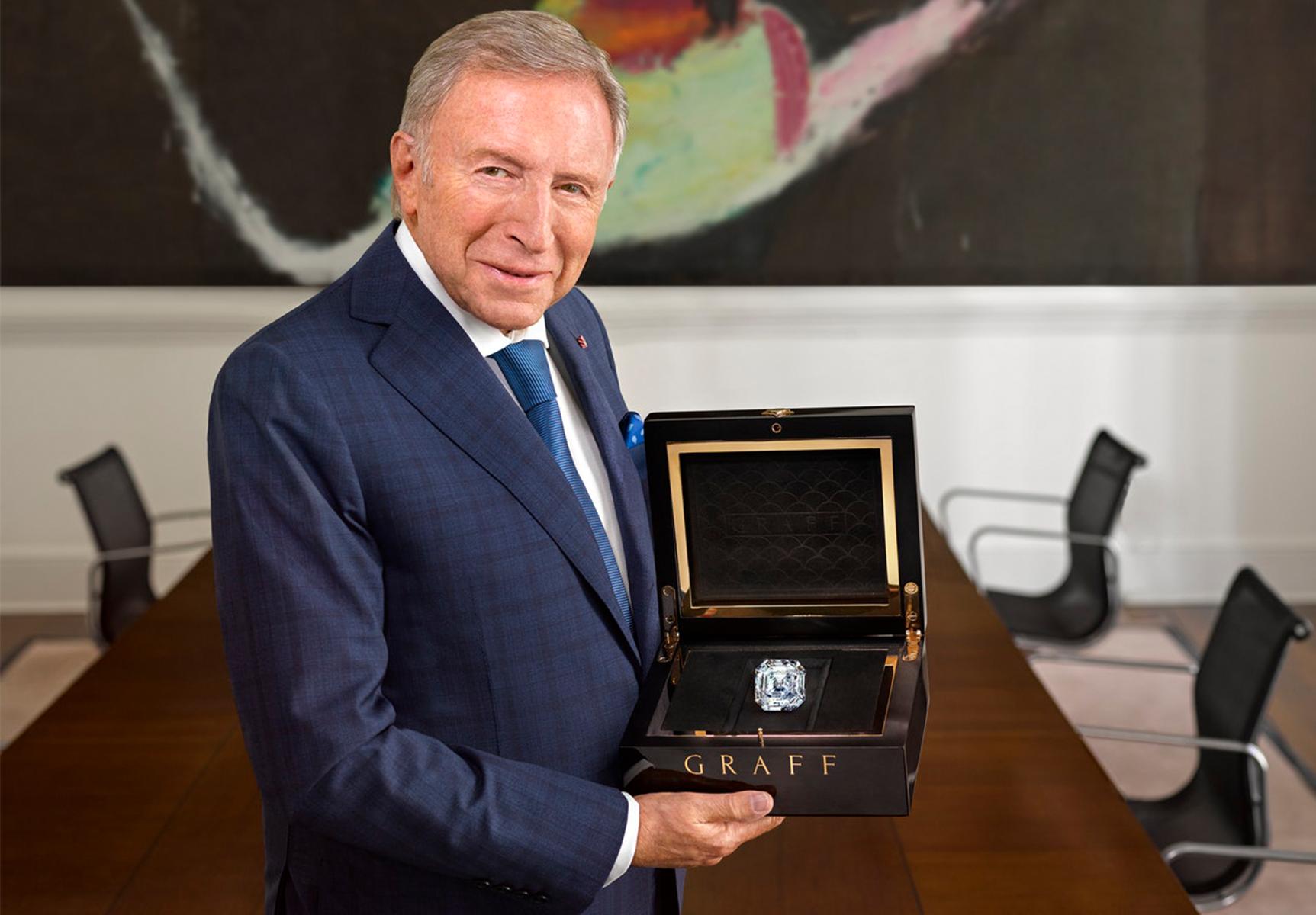 Londyński jubiler Laurence Graff właściciel Graff Diamonds
