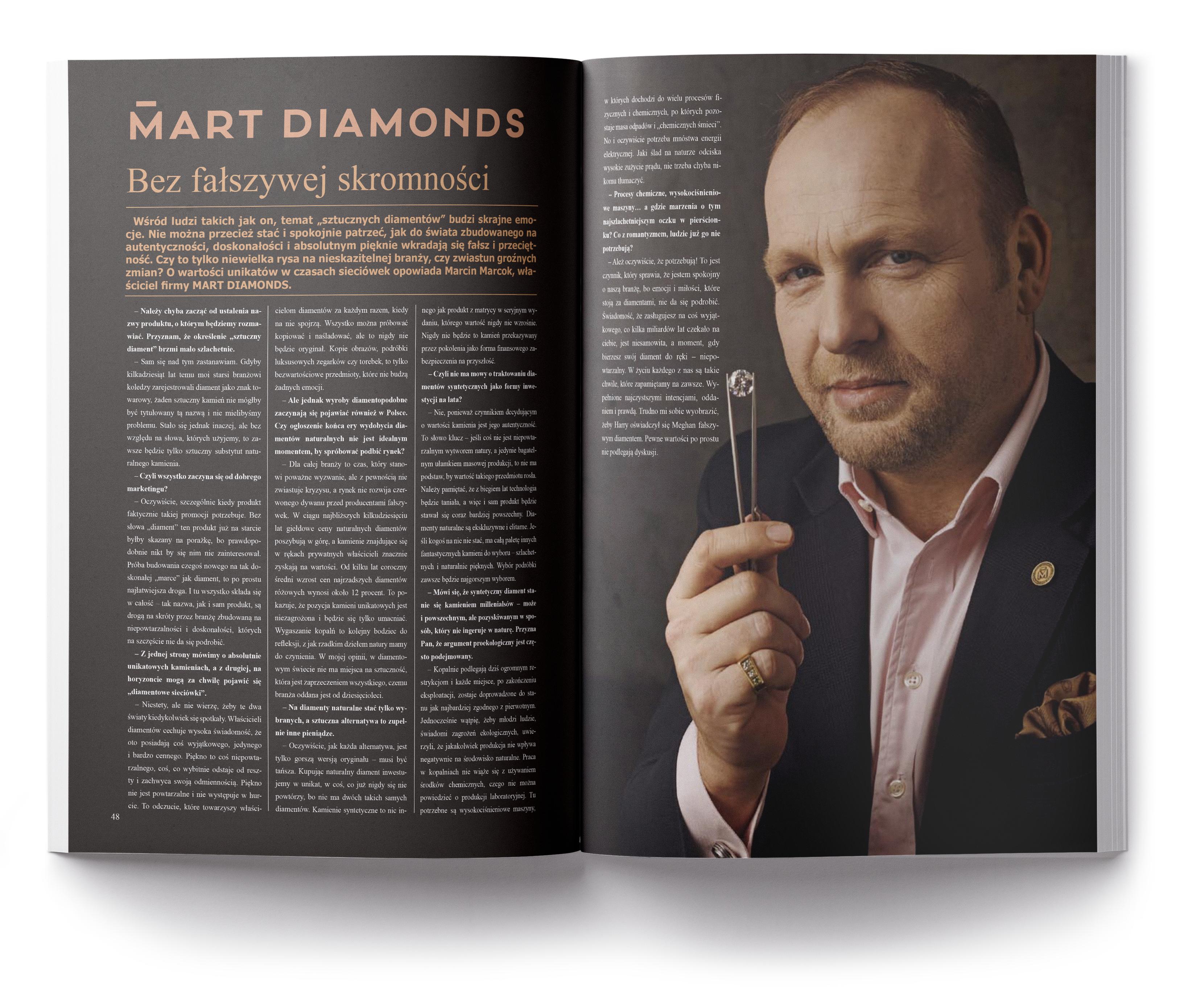 Sztuczne diamenty wywiad Marcin Marcok
