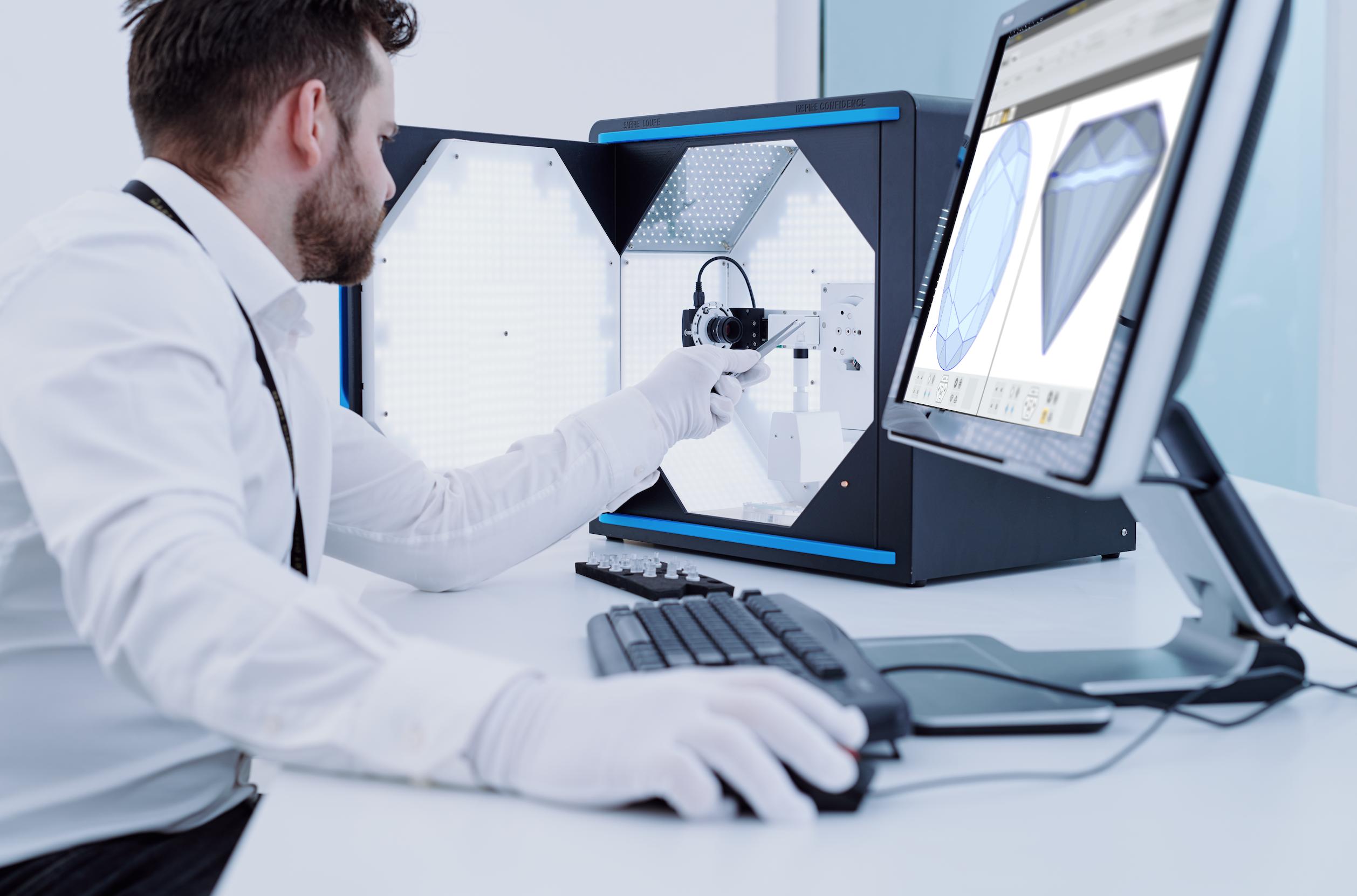 Analiza diamentów i brylantów w 3D
